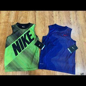 Lot of (2) Boys 4t Nike Dri-Fit Tanks. New